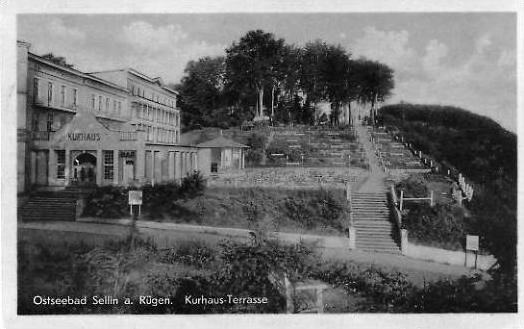 Ostseebad Sellin a. Rügen v. 1955  Kurhaus Terrasse  (24348)