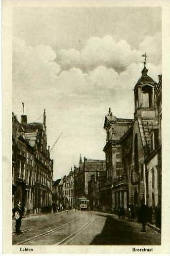 Leiden v. 1918  Breestraat  (24662)