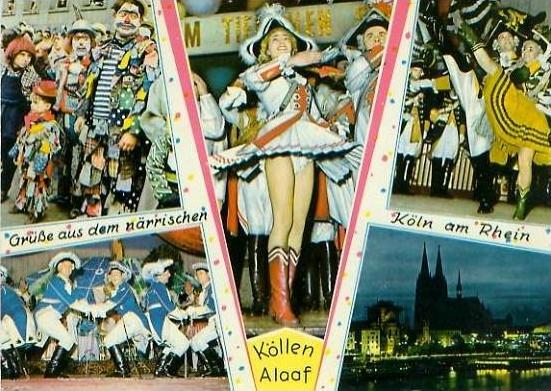Köln v. 1964  Grüsse vom Karneval -- Köllen Alaaf  (24741)