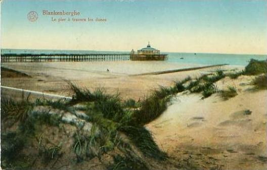 Blankenberghe v. 1917  Le pier a travers les dunes   (25055)