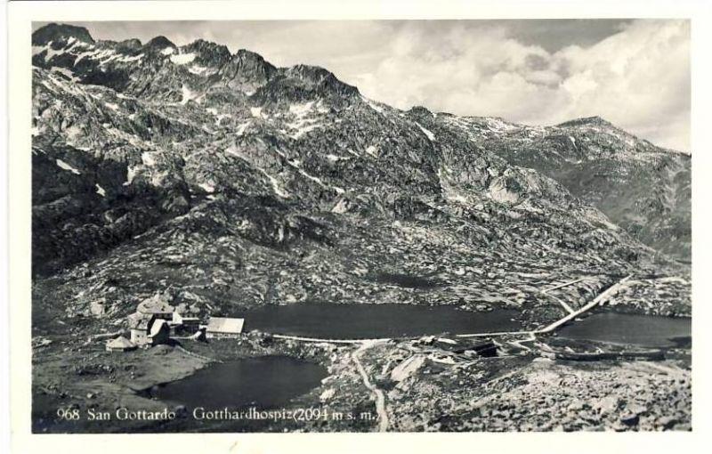 San Gottardo v. 1943  Gasthaus & Gotthardhospiz  - siehe Foto !!  (25431) 0