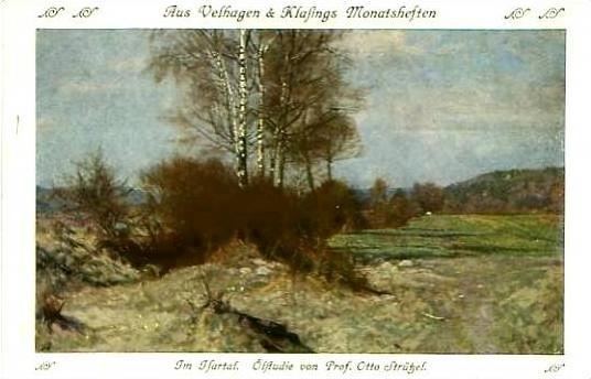 Ölstudie von Prof. Otto Strützel v. 1908  Am Wiesenrain  (24538)