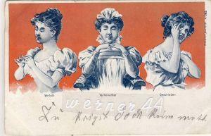 Verlobt,Verheiratet,Gesch ieden v. 1900  siehe Foto !!  (26087)