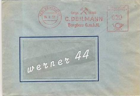 Bentheim v. 1957 C. Deilmann-Bergbau  -  siehe Foto !!  (26300)