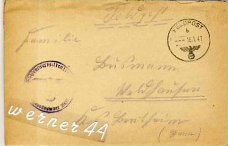 Veldhausen,Grafschaft Bentheim v. 1941  Pastor Busmann  (26414)