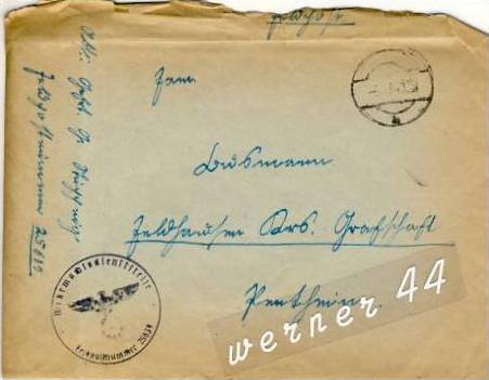 Veldhausen,Grafschaft Bentheim v. 1941  Pastor Busmann  (26424)