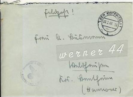 Veldhausen,Grafschaft Bentheim v. 1943  Pastor Busmann  (26426)