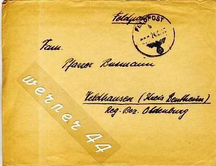 Veldhausen,Grafschaft Bentheim v. 1949  Pastor Busmann  (26437)