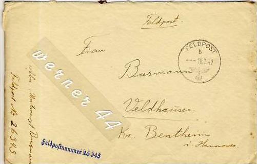Veldhausen,Grafschaft Bentheim v. 1940  Pastor Busmann  (26438)