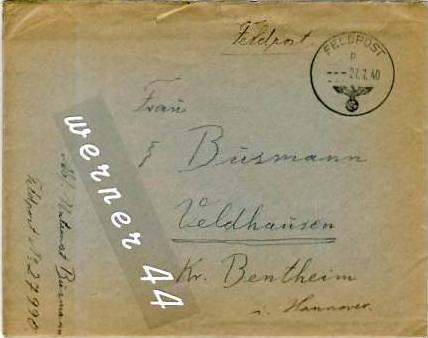 Veldhausen,Grafschaft Bentheim v. 1940  Pastor Busmann  (26439)