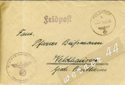 Veldhausen,Grafschaft Bentheim v. 1940  Pastor Busmann  (26443)