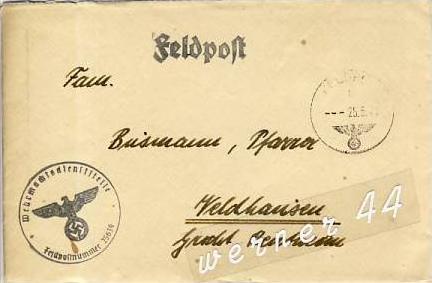 Veldhausen,Grafschaft Bentheim v. 1941  Pastor Busmann  (26444)