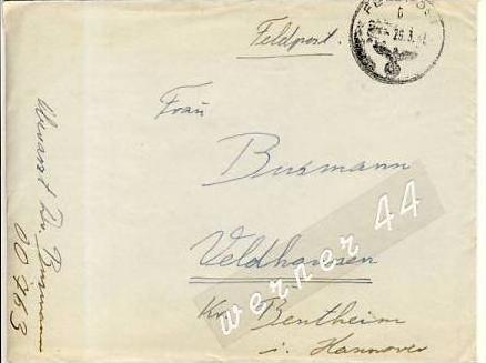Veldhausen,Grafschaft Bentheim v. 1943  Pastor Busmann  (26470)