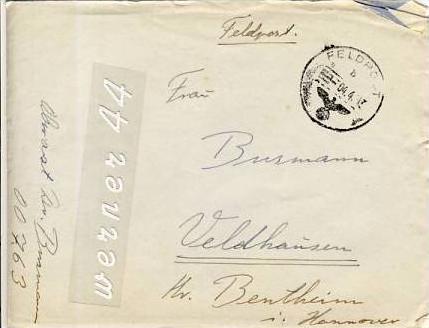 Veldhausen,Grafschaft Bentheim v. 1943  Pastor Busmann  (26472)