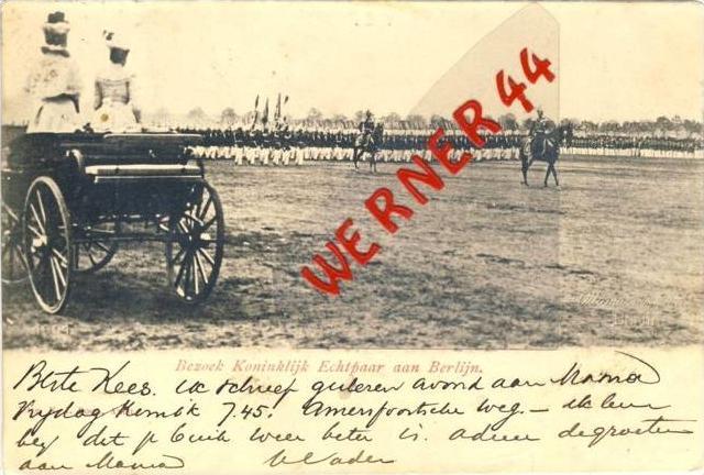 NIEDERLANDE ### Königin v. 1901 Bezoek Kominklijk Echtpaar aan Berlijn   (26642-08)