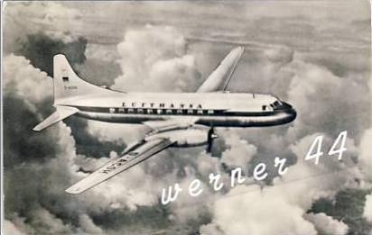 Convair 340 v. 1958 Mittelstreckenflugzeug der Deutschen Lufthansa  -  siehe Foto !!  (26714)
