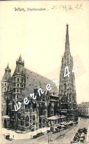 Wien v. 1921  Stephansdom  - siehe Foto  (26744)