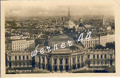 Wien v. 1940  Panorama mit Burgtheater   - siehe Foto  (26746)