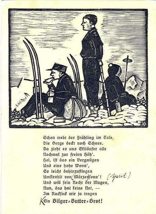 2. Weltkrieg v. 1942  Skifahrer   --  siehe Foto !!  (32028)