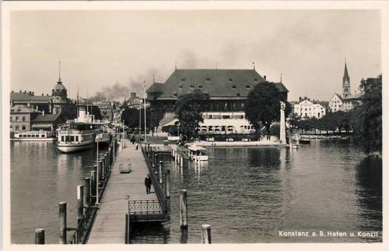 Konstanz v, 1941  Hafen & Konzil  --  siehe Foto !!   (32112)