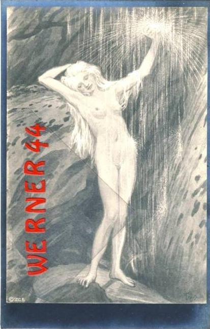 Am Wasserfall von Fidus v. 1930  - siehe Foto !!  (36171)