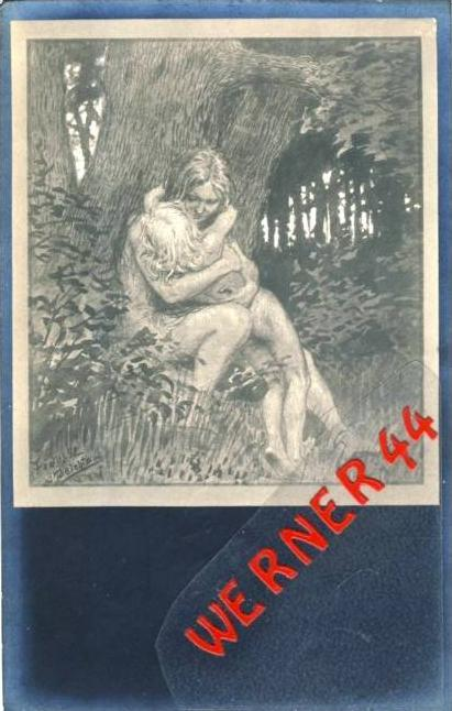BEICHTE von Fidus v. 1930  - siehe Foto !!  (36172)
