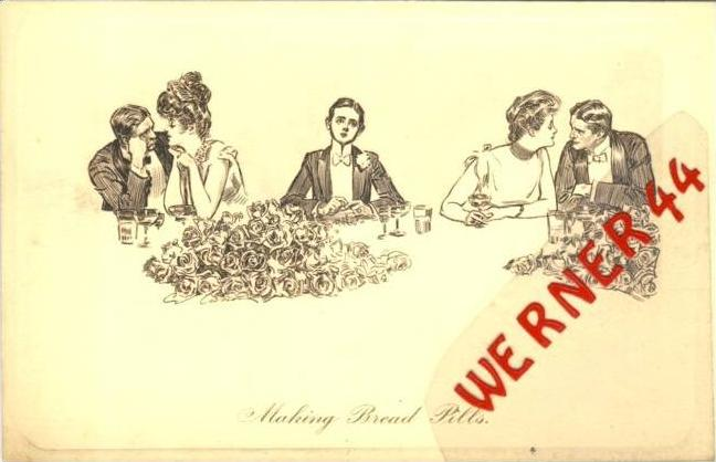 Making Bread Pills v. 1930  - siehe Foto !!  (36173)