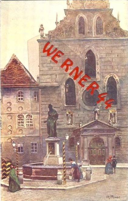 Wien v. 1918  Franziskanerkirche- siehe Foto !!  (36190)