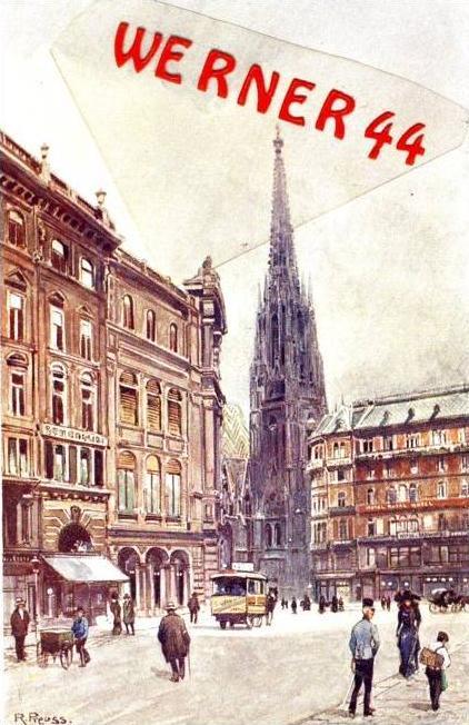 Wien v. 1918  Graben mit Hotel - siehe Foto !!  (36191)