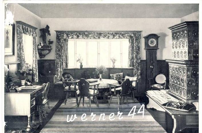 Sammelwerk Nr. 8  v. 1933  Das Wohnzimmer des Führers auf dem Obersalzberg  -- siehe Foto !!  (32188)