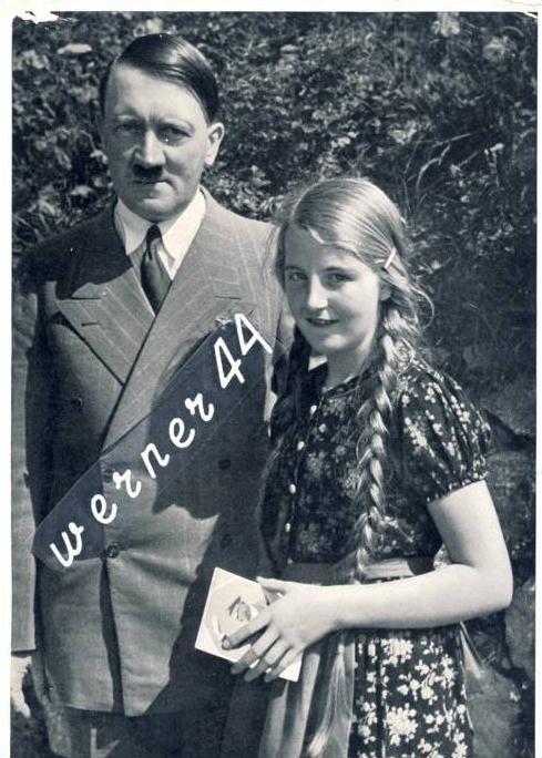 Sammelwerk Nr. 15  v. 1933  A.H. gab ein Autogramm mit Foto für das Mädchen  -- siehe Foto !!  (32190)