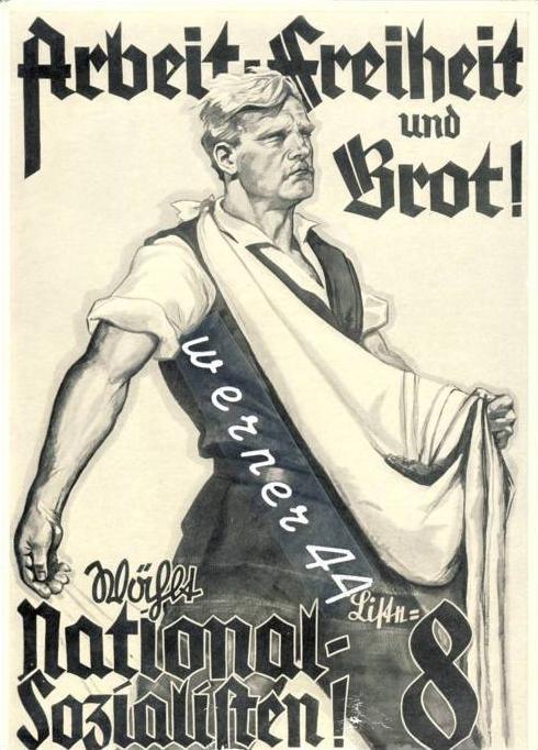 Sammelwerk Nr. 8  v. 1933  Wahlplakat  -- siehe Foto !!  (32194)