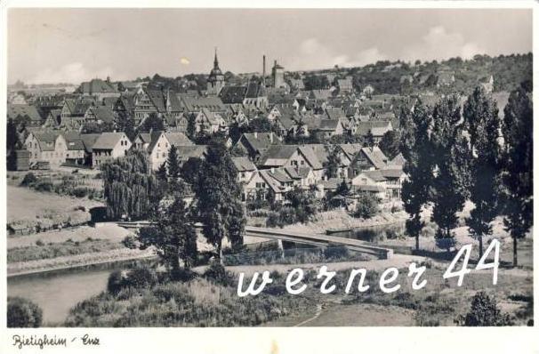 Bietigheim v. 1952  Teil-Stadt-Ansicht -- siehe Foto !!  (32657)