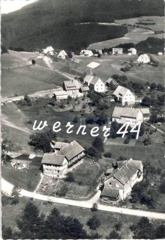 Huzenbach-Silberberg v. 1957  Gasthof zur Rose,Inh: E. Maulbetsch & Dorfansicht -- siehe Foto !!  (32662)