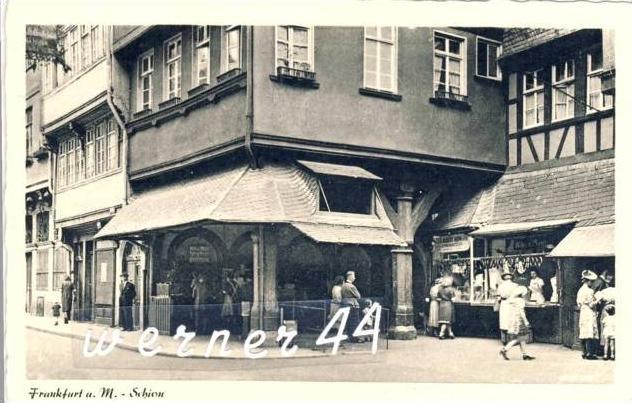Frankfurt v. 1941  Schiow & Schlachtergeschäft -- siehe Foto !!  (32687)