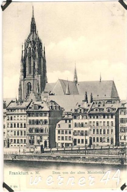 Frankfurt v. 1904  Restauration Mich. Reisinger & Restauration Jakob Engler -- siehe Foto !!  (32688)