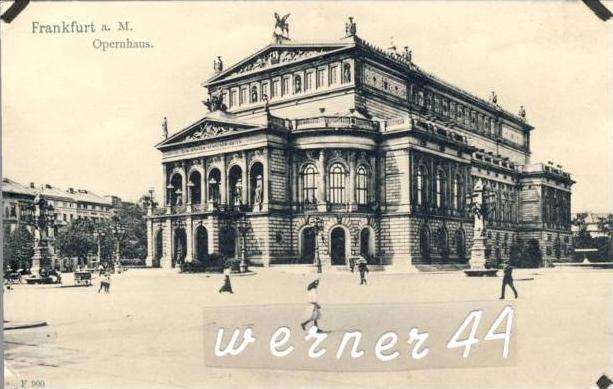 Frankfurt v. 1912  Opernhaus -- siehe Foto !!  (32689)