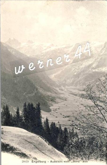 Urach v. 1908  Engelberg-Aussicht vom Bor