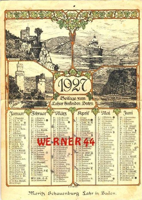 Lahr / Baden --- Beilage zum Lahrer hinsenden Boten v. 1927 -- siehe Foto !!  (32965a.)