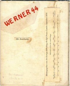 Bentheim v. 1898 Landkarte Bentheim bis Oldenzaal -- siehe Foto !!  (32966a.)