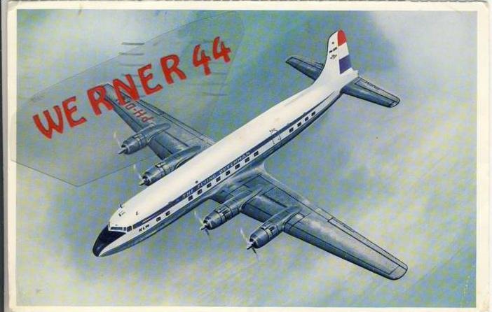 Douglas  DC  6 B  v. 1956  --  siehe Foto !!   (32215)
