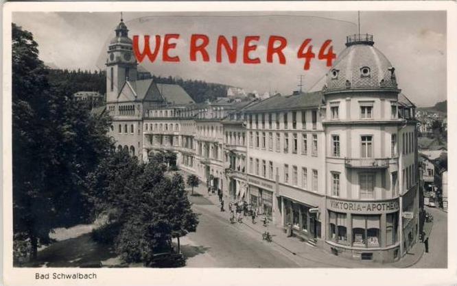Bad Schwalbach v. 1954  Viktoria Apotheke  -- siehe Foto !!   (35228)