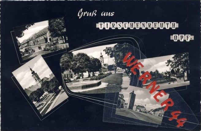 Tirschenreuth v. 1964  5 Ansichten  -- siehe Foto !!  (27614)