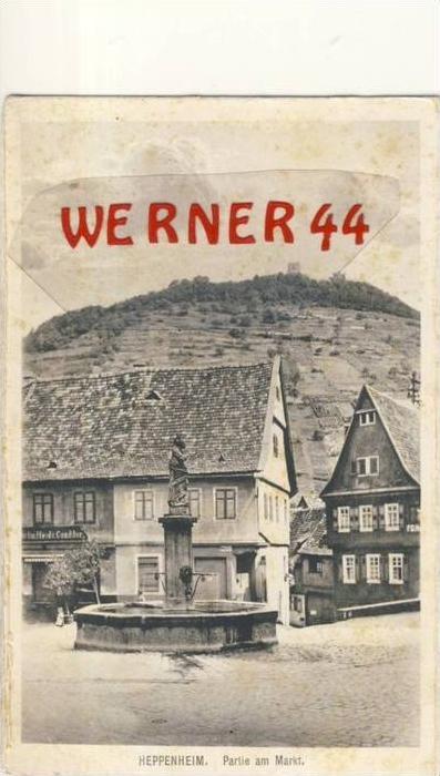 Heppenheim v. 1939 Markt mit Conditor & Gasthaus  --  siehe Foto`s !!   (35136)