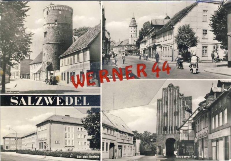 Salzwedel v. 1978  4 Ansichten --  siehe Foto !!   (35160)