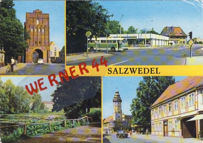 Salzwedel v. 1978  4 Ansichten --  siehe Foto !!   (35162)