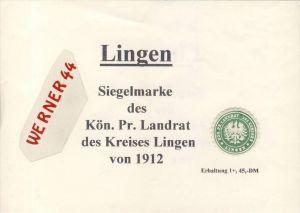Lingen / Ems -  v. 1912  Siegelmarke (085)