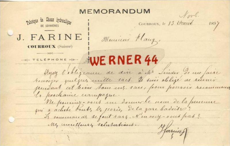 Courroux v. 1897  J. Farine --siehe Foto !!  (082)