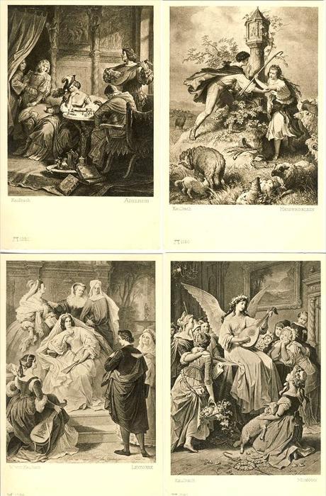 Kaulbach v. 1930  10 Karten -  siehe Foto !!   (25339)