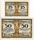 Rolandstadt Belgern a. E.  v. 1921  25,50 Pfennig  --  siehe Foto !!  ( GUTSCHEIN )   (1146)